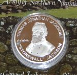 Silver  Coloured General Stonewall Jackson Collectors Coin